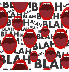 Seamless background with the mouth and gossip blah vector
