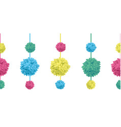 Set of hanging colorful birthday party vector