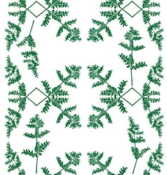 Silhouette of a green plant pattern vector