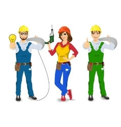 Technical electrician handyman or mechanic vector