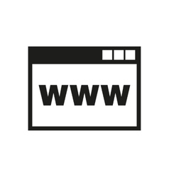 The WWW icon SEO and browser development symbol vector image vector image