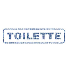 Toilette textile stamp vector