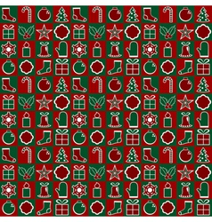Traditional Christmas Pattern vector image vector image
