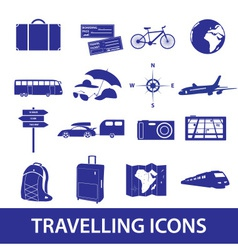 Travelling icons set eps10 vector