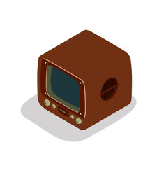 tv retro television old icon vintage screen set vector image