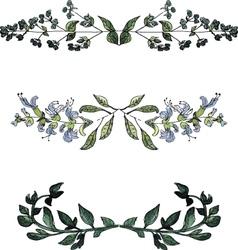 Watercolor floral bordersvintage style watercolor vector