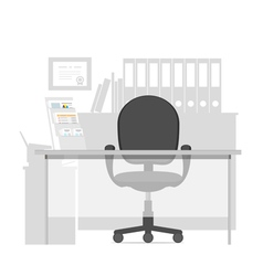 Workspace for a manager in office interior vector