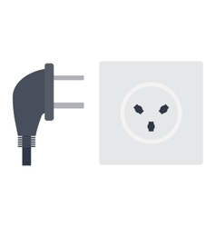 Electrical outlet plug vector