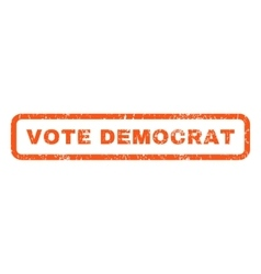 Vote democrat rubber stamp vector