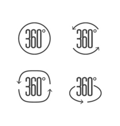 360 degrees view sign icon design symbol of vector