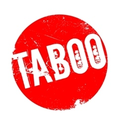 Taboo rubber stamp vector