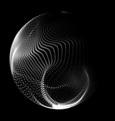 Abstract destroyed mesh spheres vector