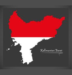 Kalimantan barat indonesia map vector