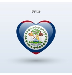 Love belize symbol heart flag icon vector
