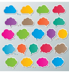 Cloud speech bubbles vector