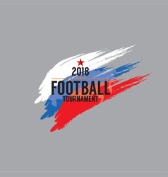 2018 football championship symbol vector