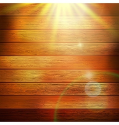 Wooden boards with sun light plus eps10 vector