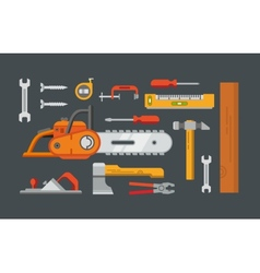 Construction tools objects vector