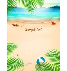 Summer beach background seascape sand wave vector