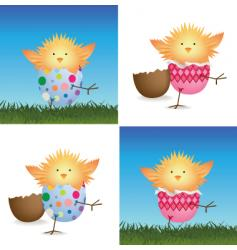 hatching chick vector image