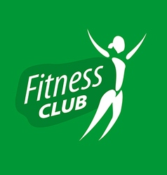 Logo for fitness clubs on a green background vector