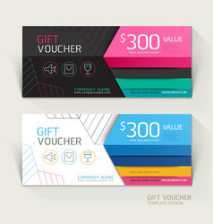 Gift voucher design template vector