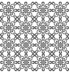 Seamless pattern monochrome ethnic religious vector