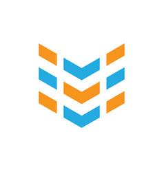 abstract arrow business logo vector image
