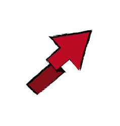 Arrow direction location up image vector