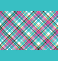 Baby color check fabric pixel texture seamless vector
