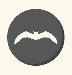 bat round icon with the of volume vector image vector image