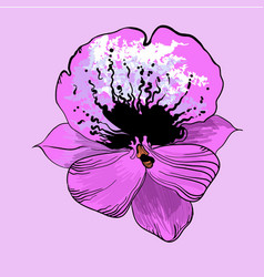 Bright elegant flower concept vector