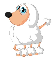 Cartoon cute dog poodle vector