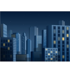 Cityscape at night background vector image
