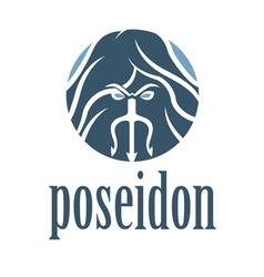 Concept of emblem of poseidon vector