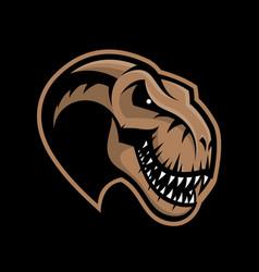 dinosaur head sport club logo concept vector image vector image
