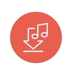Download music thin line icon vector