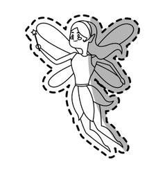 fairy cartoon icon vector image vector image