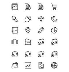 Finance line icons 5 vector