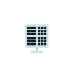flat solar panel element of vector image