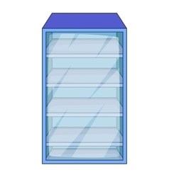 Fridge icon cartoon style vector