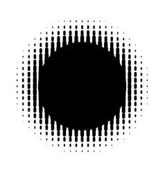 grunge halftone background vintage dots vector image