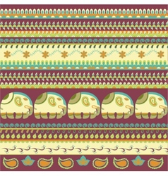 Indian pattern elephant vector