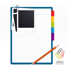 note paper with pencil vector image vector image