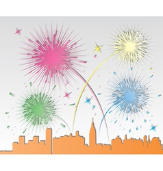 paper fireworks vector image vector image