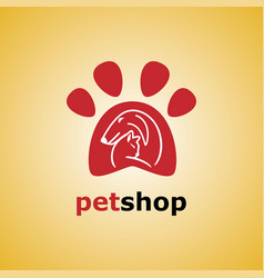 pet shop cat and dog vector image vector image