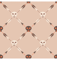 Seamless background with skulls vector
