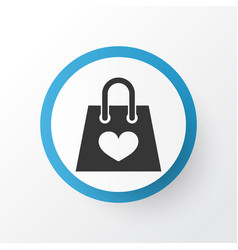shopping bag icon symbol premium quality isolated vector image