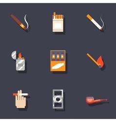 Smoking icons set vector