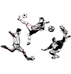 soccer trio vector image